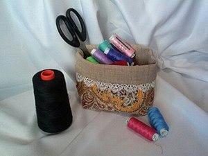 Шьем текстильную корзинку для мелочей. Ярмарка Мастеров - ручная работа, handmade.