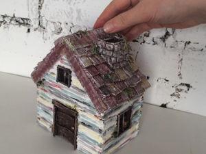 Видеоурок: как сделать домик из бумаги и картона. Ярмарка Мастеров - ручная работа, handmade.