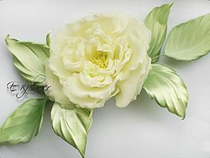 Видео мастер-класс по изготовлению шелковой розы «Бланш». Часть 1: выкраивание и покраска. Ярмарка Мастеров - ручная работа, handmade.