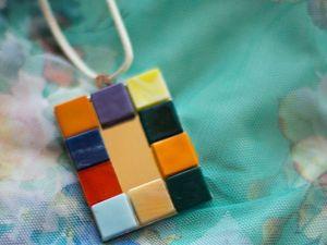 Летний, легкий, неординарный: создаем кулон из подручных средств. Ярмарка Мастеров - ручная работа, handmade.