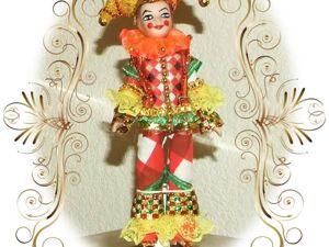 Мой АРЛЕКИН — кукла из Венецианской Комедии дель арте. Ярмарка Мастеров - ручная работа, handmade.
