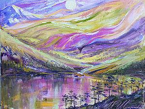 Пишем пейзаж маслом в авторской технике живописи. Ярмарка Мастеров - ручная работа, handmade.