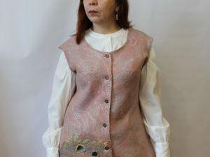 Аукцион на креативный валяный жилет!!!. Ярмарка Мастеров - ручная работа, handmade.