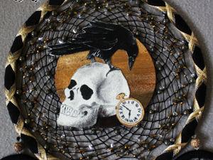 Ловец снов  «Время»  с пиритом и кварцем, 66 см. Ярмарка Мастеров - ручная работа, handmade.