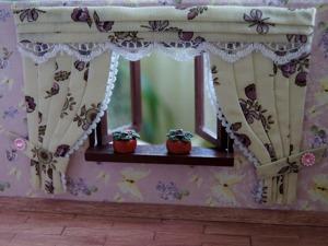 Видео мастер-класс: делаем шторы для кукольного домика. Ярмарка Мастеров - ручная работа, handmade.