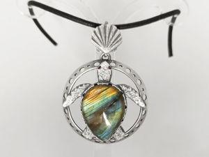 Серебряная черепаха. Ярмарка Мастеров - ручная работа, handmade.