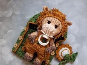 Вязаная игрушка теленок Мармеладик. Ярмарка Мастеров - ручная работа, handmade.