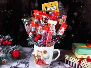 Handmade Mug with Sweets. Livemaster - handmade
