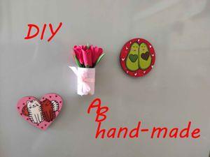 Делаем мини тюльпанчики на магнитике. Ярмарка Мастеров - ручная работа, handmade.