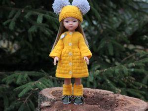Вяжем желтое пальто из комплекта «Белочка» для кукол Паола Рейна ростом 32-34 см. Ярмарка Мастеров - ручная работа, handmade.