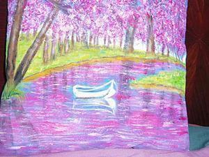Видео мастер-класс: роспись по ткани «Весеннее озеро». Ярмарка Мастеров - ручная работа, handmade.