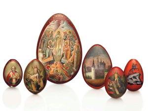 Пасхальные яйца из папье-маше. Ярмарка Мастеров - ручная работа, handmade.