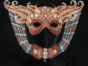 Чудесные маски, вышитые бисером и стразами, от Melissa Grakowsky Shippee (MGS Designs). Ярмарка Мастеров - ручная работа, handmade.