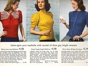 Вязание 1940-г годов: как свитер оказался на пике моды. Ярмарка Мастеров - ручная работа, handmade.
