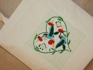 Сумка  «Райские птицы»  с вышивкой и подкладкой. Ярмарка Мастеров - ручная работа, handmade.