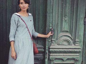 Платье «Гавана» 52, мятная полоска — распродажа. Ярмарка Мастеров - ручная работа, handmade.