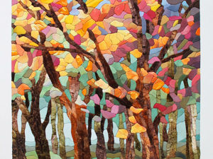 «Осенний лес»: картина в технике пэчворк без иглы. Ярмарка Мастеров - ручная работа, handmade.