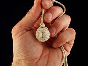 Weaving a Decorative Macrame Monkey's Fist Knot. Livemaster - handmade