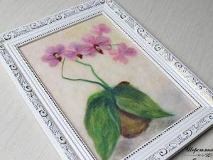 Создаем картину «Орхидеи»: работаем с шерстью. Ярмарка Мастеров - ручная работа, handmade.