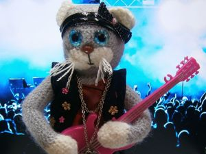 Кошка Рокерша. Ярмарка Мастеров - ручная работа, handmade.