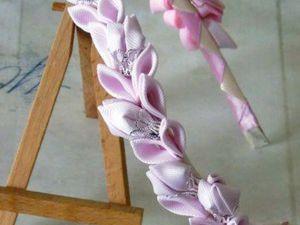 Мастер-класс: делаем ободок-канзаши «Принцесса». Ярмарка Мастеров - ручная работа, handmade.