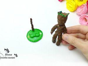 Как сделать подставку для фигурки Грута из фильма «Стражи галактики». Ярмарка Мастеров - ручная работа, handmade.