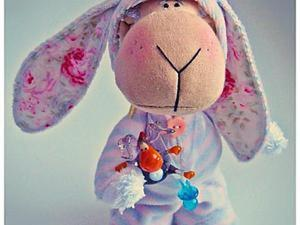 Шьем овечку в костюме зайчика. Часть 2. Ярмарка Мастеров - ручная работа, handmade.