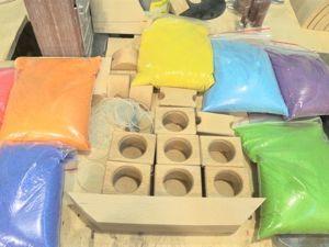 Технология заполнения деревянной игрушки. Цветной песок. Ярмарка Мастеров - ручная работа, handmade.