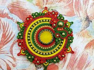 Брошь Хохлома-2 коллекция Русские узоры. Ярмарка Мастеров - ручная работа, handmade.