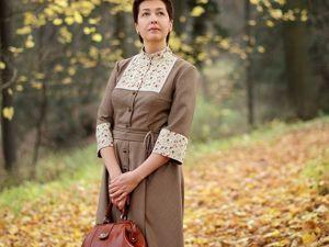 Платье  «Красивый Октябрь». Ярмарка Мастеров - ручная работа, handmade.