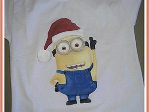 Мастер-класс: футболка с миньоном. Маленькие хитрости. Ярмарка Мастеров - ручная работа, handmade.