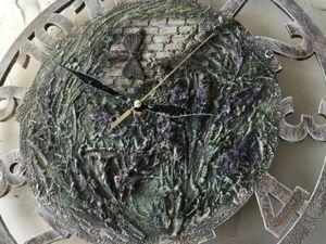 Создаем часы с сухоцветами в стиле прованс. Ярмарка Мастеров - ручная работа, handmade.