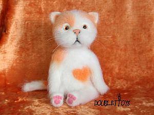 Мастер-класс: валяем милого котика. Ярмарка Мастеров - ручная работа, handmade.