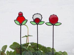 Делаем цветочки-ягодки. Витражный декор. Ярмарка Мастеров - ручная работа, handmade.