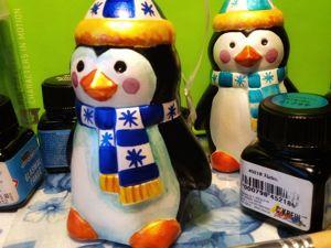 Елочная игрушка Пингвин. Расписываем новогоднюю игрушку. Ярмарка Мастеров - ручная работа, handmade.