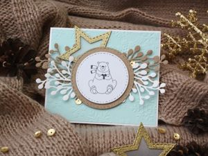 How to Make a Charming Winter Card. Livemaster - handmade