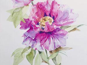 Аукцион- выставка акварельных рисунков «Только цветы». Ярмарка Мастеров - ручная работа, handmade.