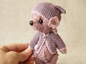 A DIY on How to Knit a Cap and Sweater for a Teddy. Livemaster - handmade
