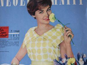 Neuer Schnitt — журнал мод 7/1960. Ярмарка Мастеров - ручная работа, handmade.