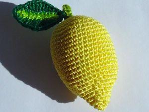 Как связать лимон крючком. Ярмарка Мастеров - ручная работа, handmade.