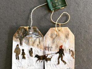 Рисунки на чайных пакетиках. Ярмарка Мастеров - ручная работа, handmade.