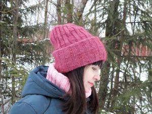 Вяжем шапку «Зимняя мечта» спицами. Ярмарка Мастеров - ручная работа, handmade.