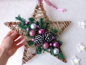 Мастерим новогоднее украшение на дверь. Ярмарка Мастеров - ручная работа, handmade.