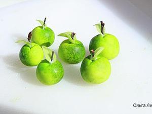 """Мастер-класс: """"Простые яблочки из простой массы"""". Ярмарка Мастеров - ручная работа, handmade."""