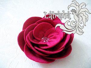 Шьем розу из фетра. Ярмарка Мастеров - ручная работа, handmade.