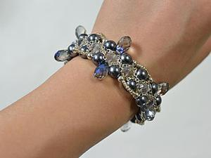 Плетем элегантный летний браслет. Ярмарка Мастеров - ручная работа, handmade.