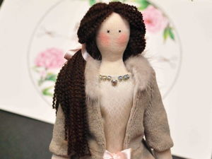 Как сделать пышную прическу для куклы Тильды из пряжи или ниток. Ярмарка Мастеров - ручная работа, handmade.