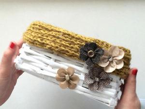 Плетем простую корзинку из газетных трубочек. Ярмарка Мастеров - ручная работа, handmade.