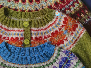 Circular Yoke with a Fair Isle Pattern — a Charming Detail of Knitted Clothes. Livemaster - handmade