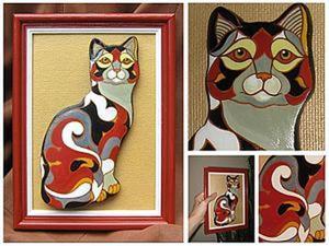 Мастер-класс: кошка из солёного теста в стиле De Rosa/Rinconada. Ярмарка Мастеров - ручная работа, handmade.